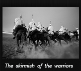 The skirmish of the warriors