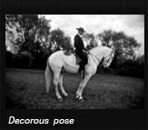 Decorous pose