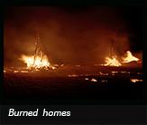 Burned homes