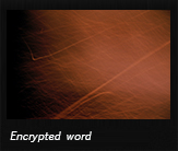 Encrypted word