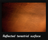 Reflected terestrial surface