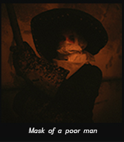Mask of a poor man
